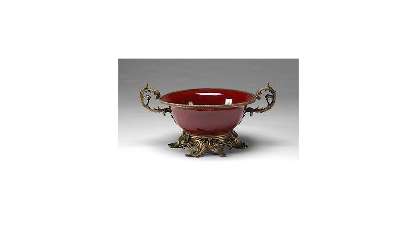 Decorative Accessories High Quality Furniture Cast Brass Bowl And Stand