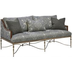 Gorgeous Periwinkle Blooms Sofa