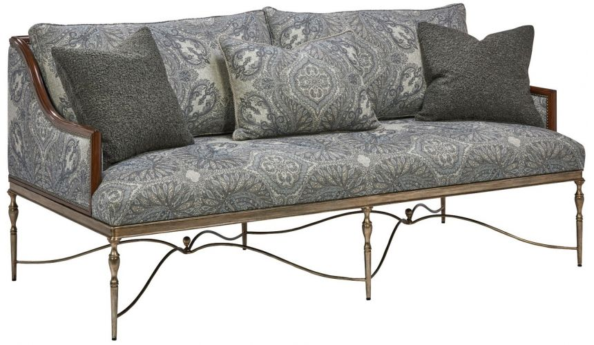 Modern Furniture Gorgeous Periwinkle Blooms Sofa
