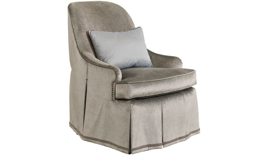 CHAIRS, Leather, Upholstered, Accent High End Lining of Clouds Armchair