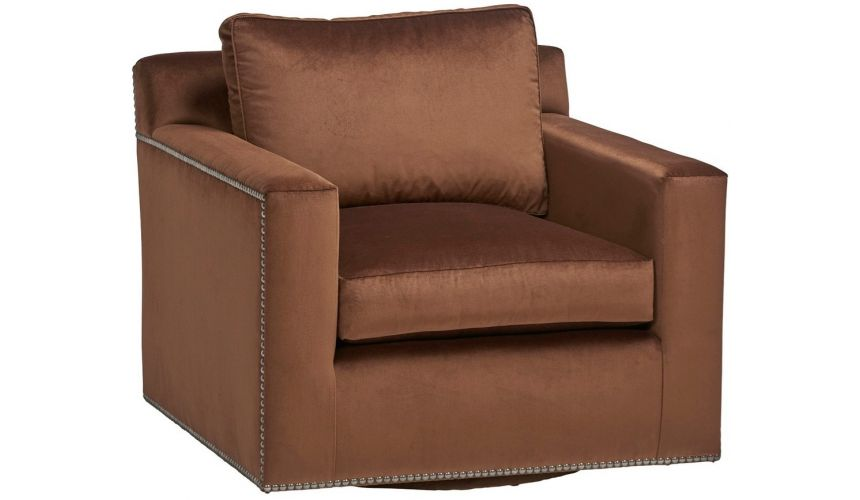 CHAIRS, Leather, Upholstered, Accent Gorgeous Seasoned and Spiced Armchair