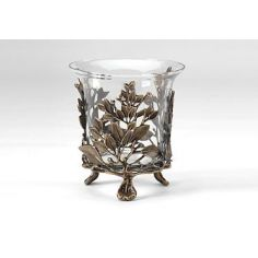 Home Accessories Solid Brass Crystal Planter