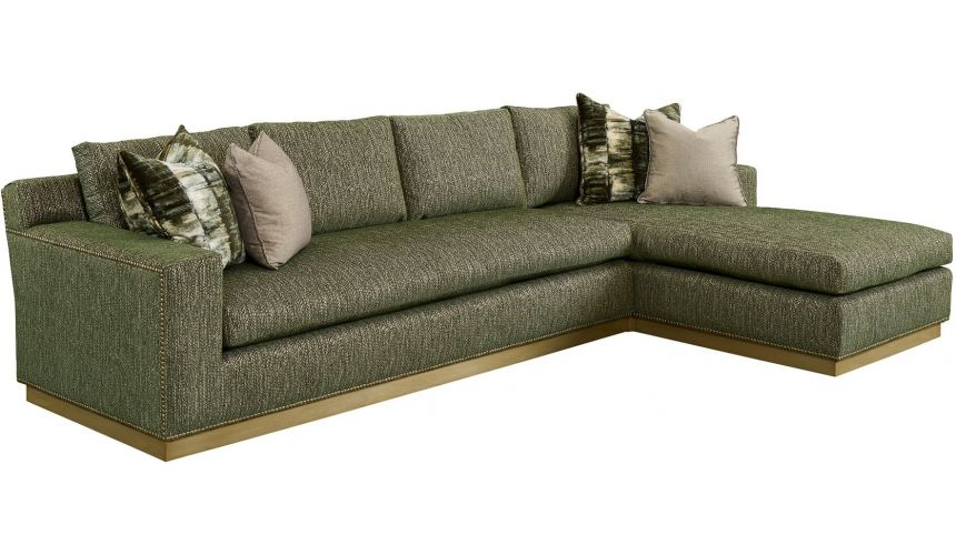 SECTIONALS - Leather & High End Upholstered Furniture Stunning Jungle Rain Sectional