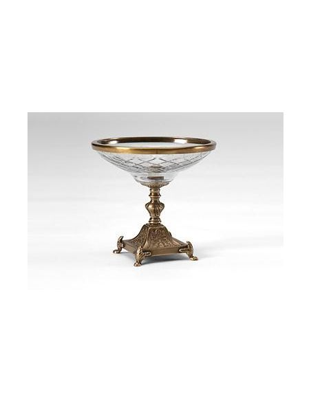 Decorative Accessories High Quality Furniture Hand Cut Crystal Compote