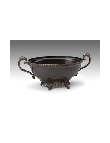Decorative Accessories High Quality Furniture Bronze Hammered Bowl