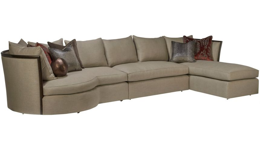 SECTIONALS - Leather & High End Upholstered Furniture Luxurious Jungle's Passage Sectional