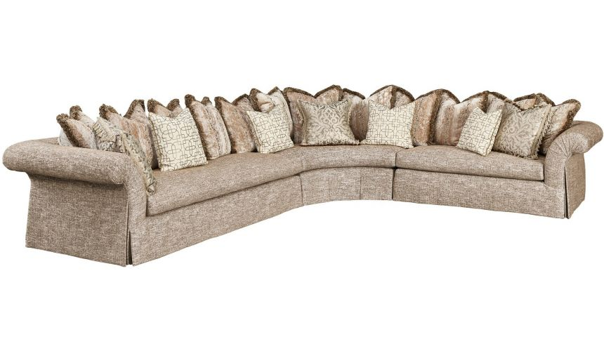 SECTIONALS - Leather & High End Upholstered Furniture Gorgeous Paradise Castles Sectional