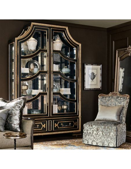 Display Cabinets and Armories Luxurious Black Knight's Display Cabinet