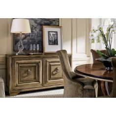 High End Bronzed Moose Point Credenza