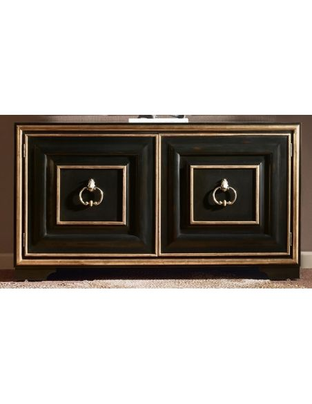 Breakfronts & China Cabinets High End Bronzed Moose Point Credenza