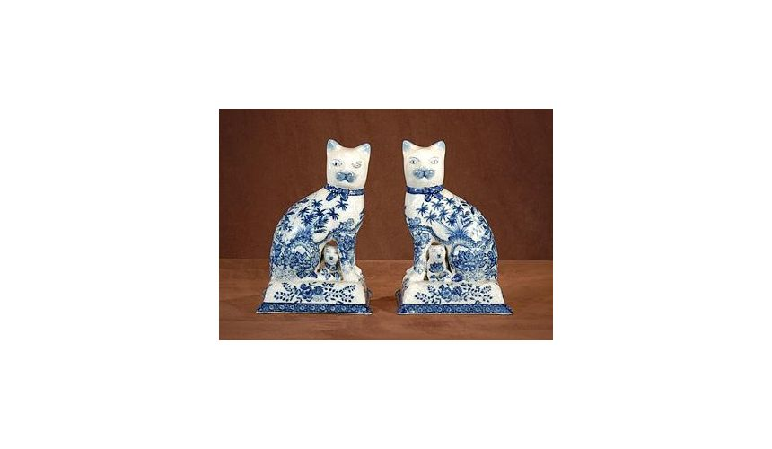 Decorative Accessories Luxurious Home Accents And Decor Pair Of Staffordshire Cats