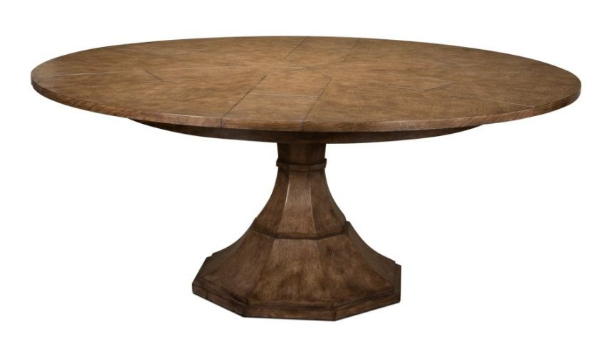 Dining Tables 22 round to round extending table with self storing leaves