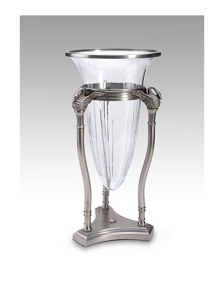 Decorative Accessories High Quality Furniture Swans Crystal Vase