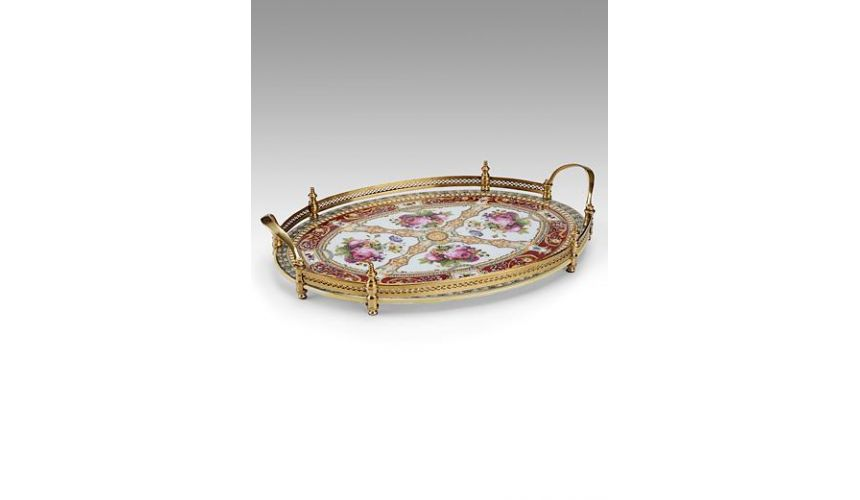 Decorative Accessories Home Accessories Hand Painted Porcelain Gallery Tray
