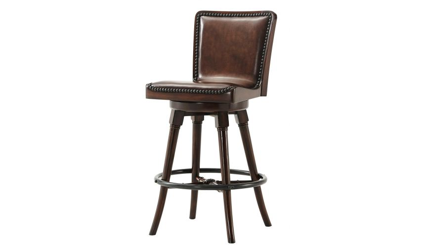 Western Furniture Leather bar stool