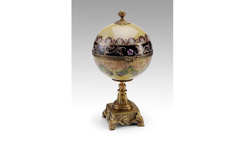 Decorative Accessories Home Accessories Luxurious Home Accents and Decor Decorative Footed Box