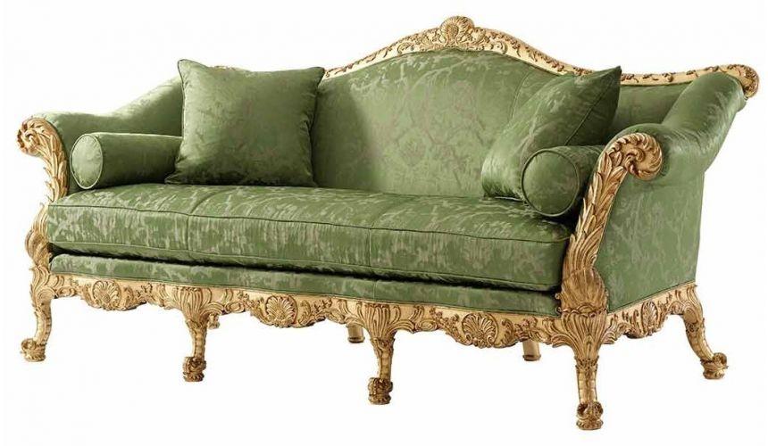 Empire Style Furniture Carved mahogany sofa