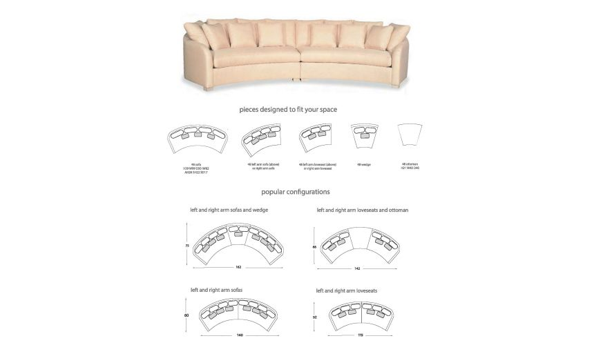 SECTIONALS - Leather & High End Upholstered Furniture Sectional sofa custom configurations 14