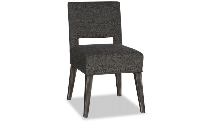 Dining Chairs Elegant Deep and Dark Pitch Dining Chair