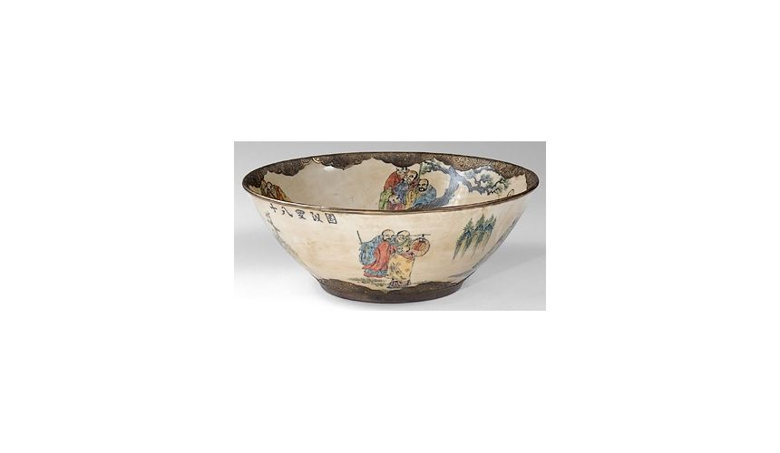 Decorative Accessories Centrepiece Hand Painted Bowl