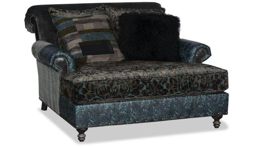 Western Furniture Fashion forward luxury chaise