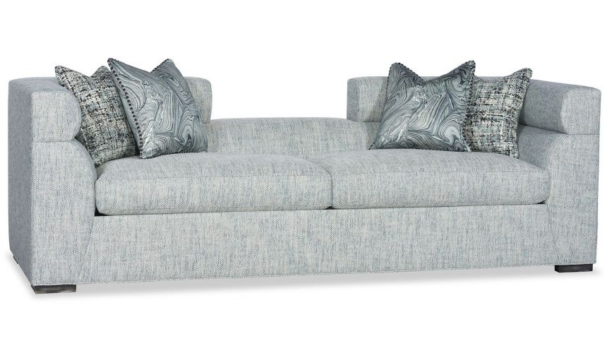 SOFA, COUCH & LOVESEAT Conversation sofa lounger in soft blue