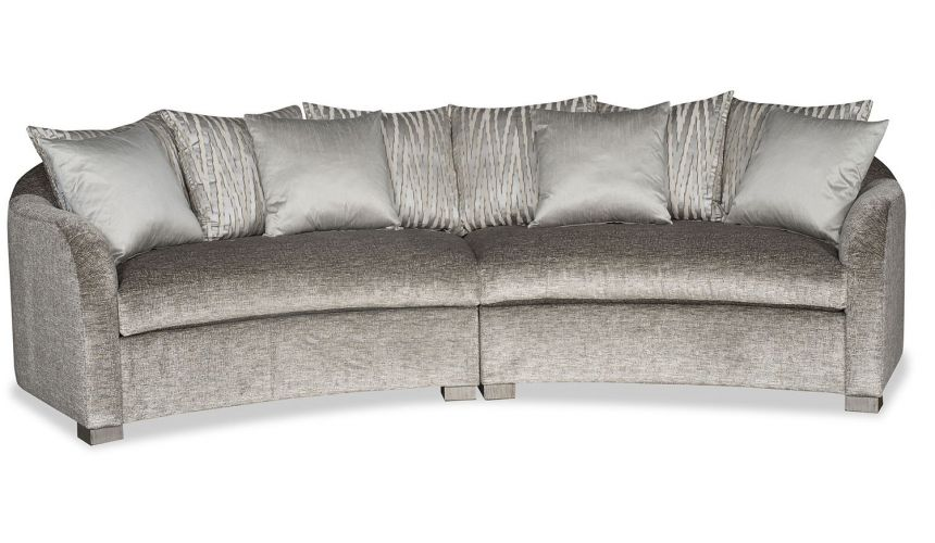 SECTIONALS - Leather & High End Upholstered Furniture Curved modern style conversation sectional sofa