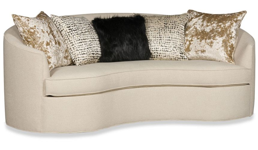 SOFA, COUCH & LOVESEAT Living room curved conversation sofa