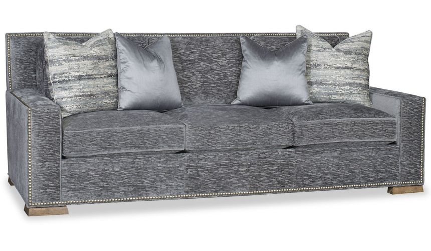 SOFA, COUCH & LOVESEAT Modern style sofa in blue gray color tones