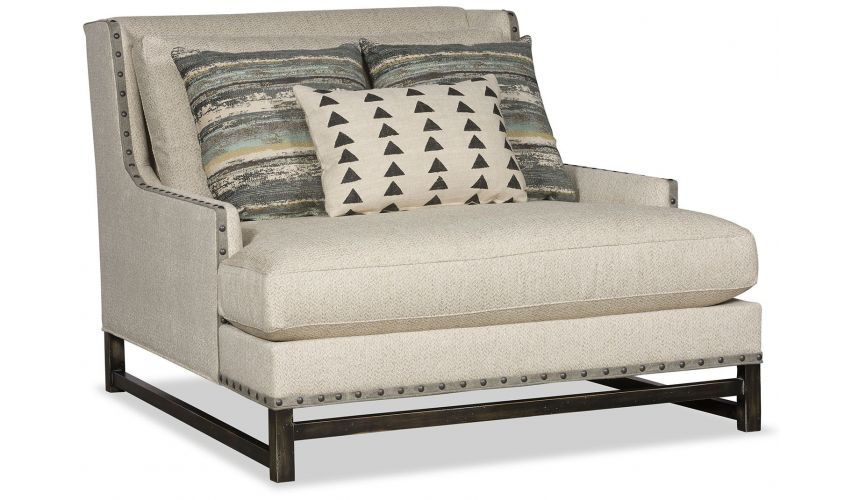 Modern Furniture Transitional comfy chaise