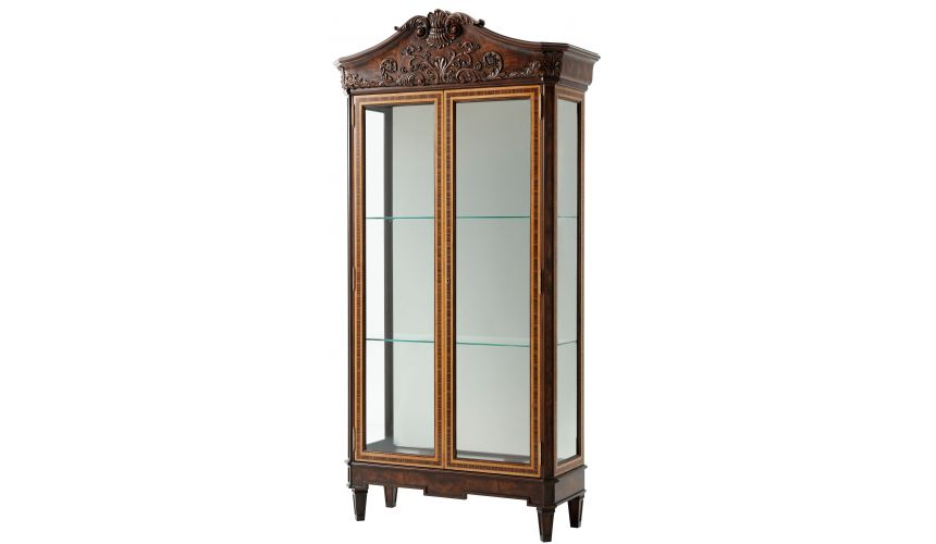 Breakfronts & China Cabinets Classic glass display cabinet
