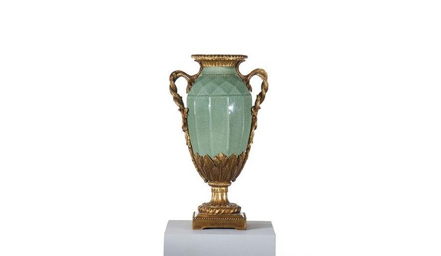 Decorative Accessories Home Accessories Luxury Porcelain Celadon Vase