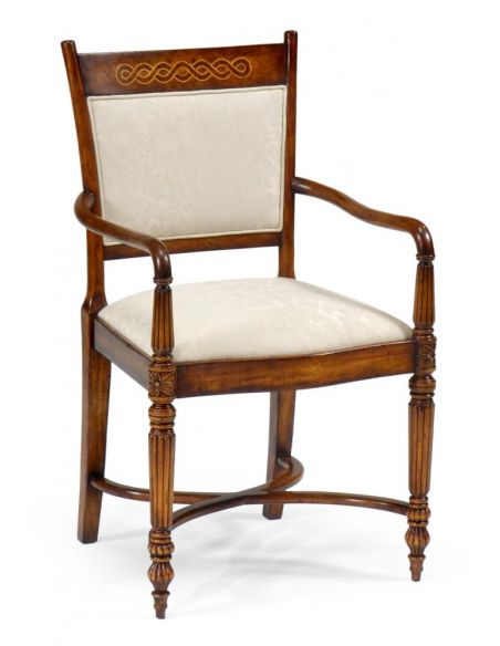 Dining Chairs Home Furnishings High End Dinning Room Furniture Arm Chair with hand carved legs