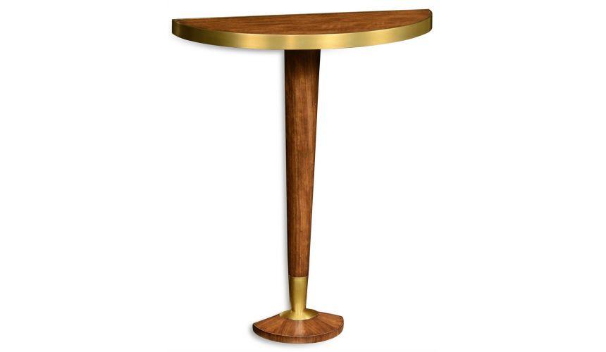 Hyedua wood bracket table with pedestal.