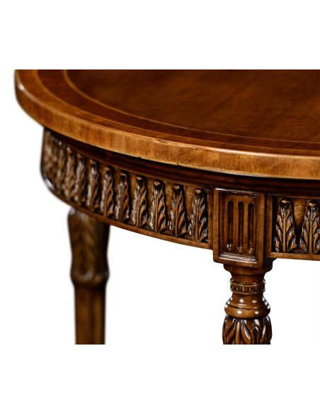 Napoleon III style round side table with fine inlay