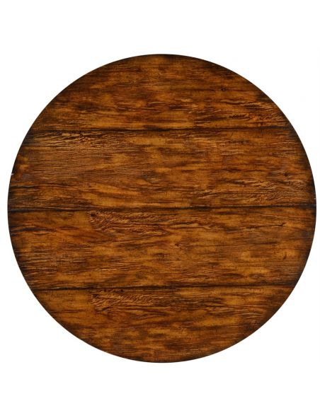 Walnut bistro style panelled round centre table