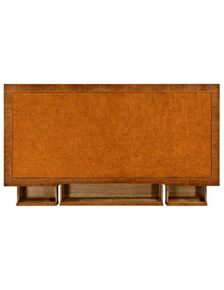 Sheraton style Walnut bureau plat