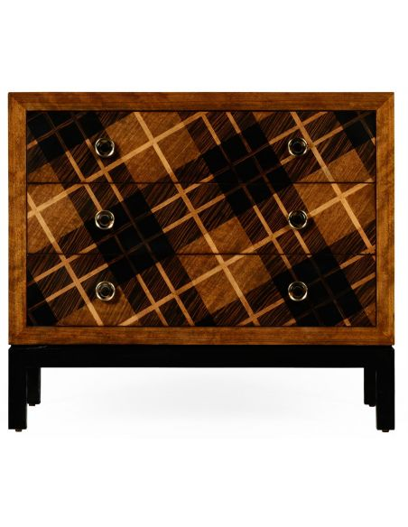 Inlaid Tartan low chest