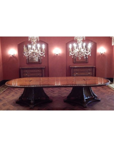 High end dining room table Italian furniture