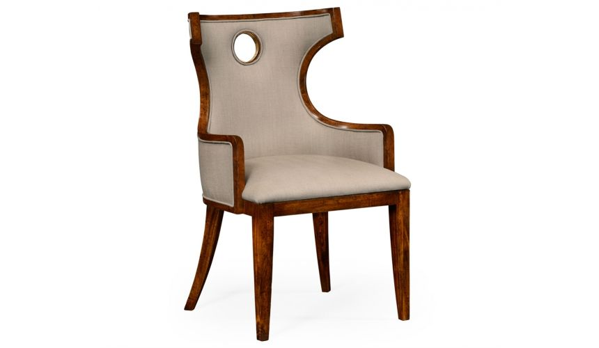 Greek revival Biedermeier mahogany armchair.