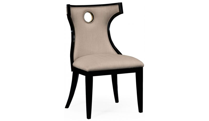 Greek revival Biedermeier black side chair.