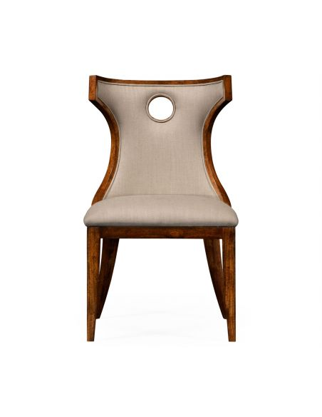 Greek revival Biedermeier mahogany side chair.