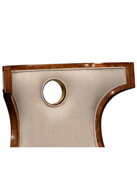 Greek revival Biedermeier mahogany side chair.