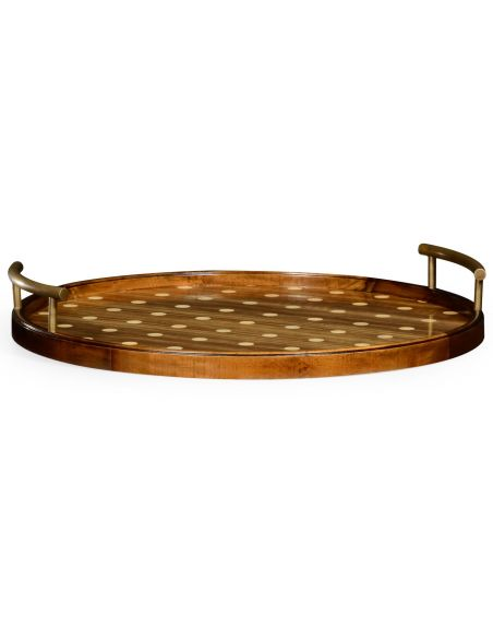 Circular polka dot tray large