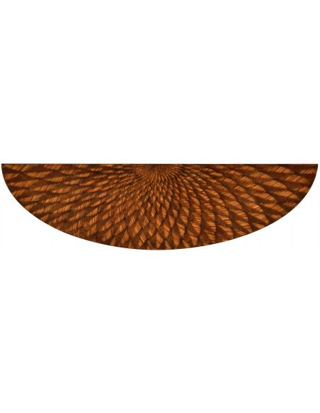 Console & Sofa Tables Semi circular console with feather inlay