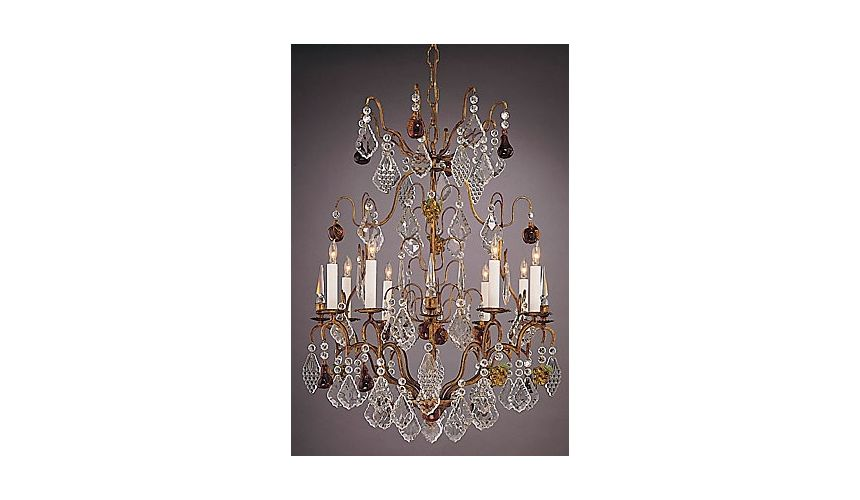 Lighting Bronze Lead Crystal Chandelier