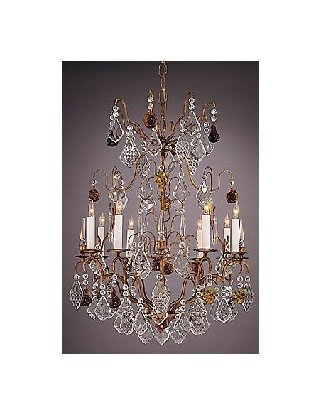 Bronze Lead Crystal Chandelier