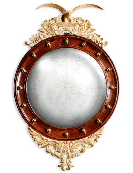 "Mirrors, Screens, Decrative Pannels Round \""eagle\\"" mirror with gilded frame"