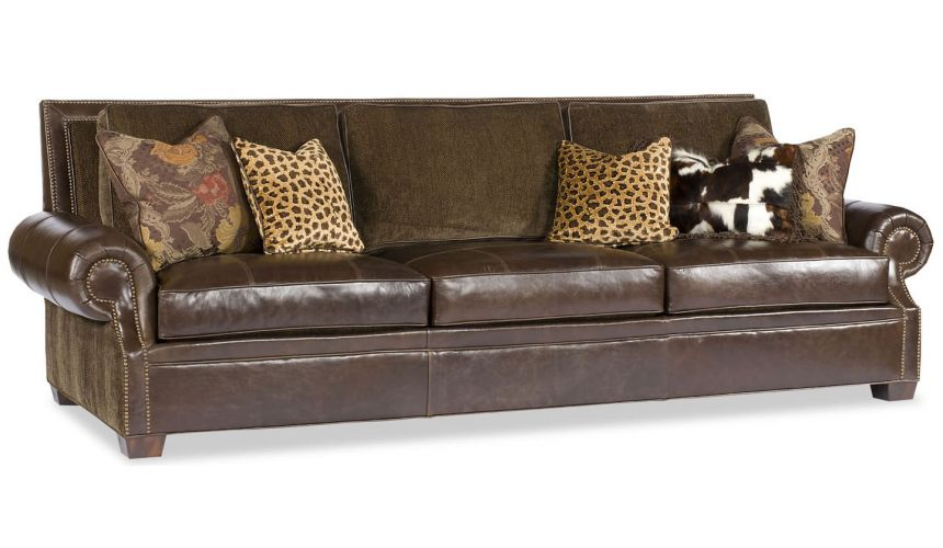 SOFA, COUCH & LOVESEAT Chocolate Leather Sofa