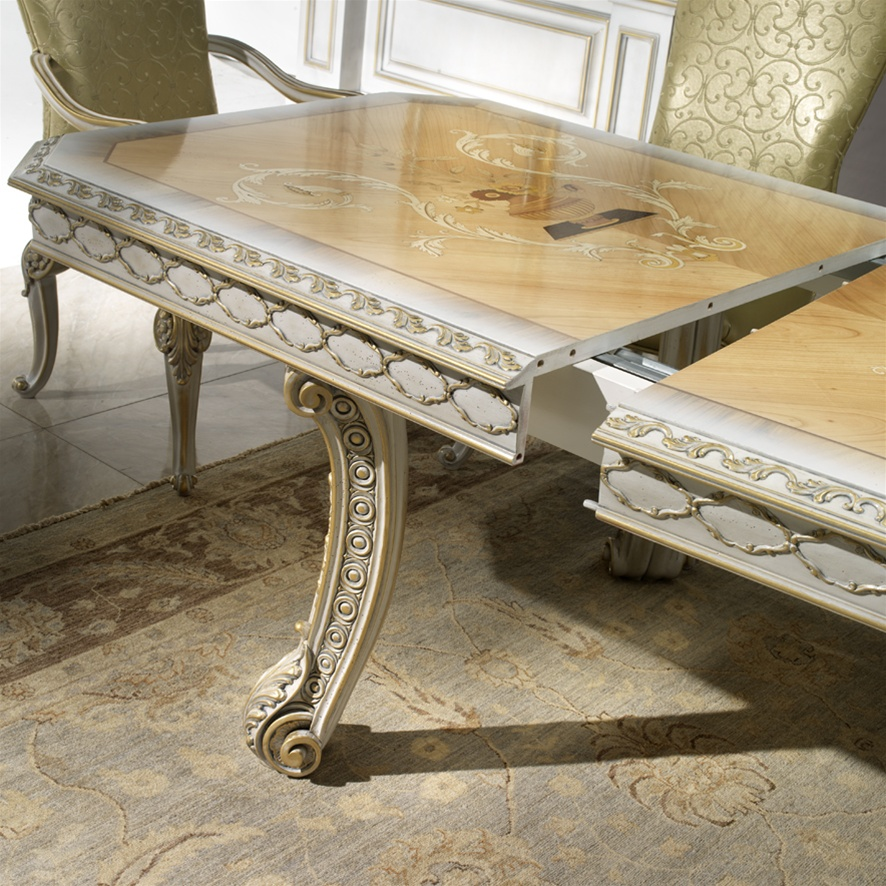 1 high end italian furniture dining room table for Italian dining table